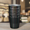2000 Vintage Perfectly Aged 21st on Black Glitter 20 oz Stainless Steel Ringneck Tumbler