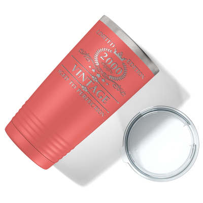 2000 Limited Edition Aged to Perfection 21st on Guava 20 oz Stainless Steel Ringneck Tumbler