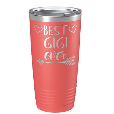 Best Gigi Ever on Guava 20 oz Stainless Steel Ringneck Tumbler