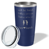 We'll be Friend's Until We're Old & Senile on Navy Blue 20 oz Stainless Steel Ringneck Tumbler