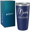 Mom Established 2021 on Navy Blue 20 oz Stainless Steel Ringneck Tumbler
