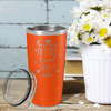 There is no Better Friend than a Sister on Orange 20 oz Stainless Steel Ringneck Tumbler