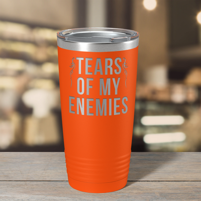 Tears of my Enemies on Orange 20 oz Stainless Steel Ringneck Tumbler