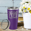 Best Auntie Ever on Purple 20 oz Stainless Steel Ringneck Tumbler