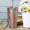 40 & Fabulous on Rose Gold 20 oz Stainless Steel Ringneck Tumbler