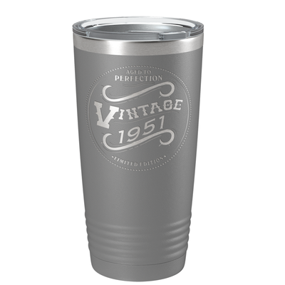 1951 Aged to Perfection Vintage 70th Birthday Laser Engraved 20 oz Vintage Tumbler