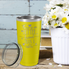 There is no Better Friend than a Sister on Yellow 20 oz Stainless Steel Ringneck Tumbler