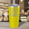 Tears of my Enemies on Yellow 20 oz Stainless Steel Ringneck Tumbler