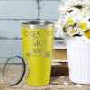 Best Gigi Ever on Yellow 20 oz Stainless Steel Ringneck Tumbler