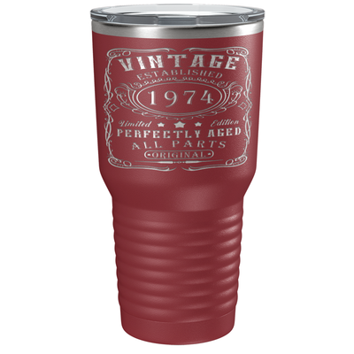 1974 Perfectly Aged 47th Birthday Laser Engraved 30 oz Vintage Tumbler