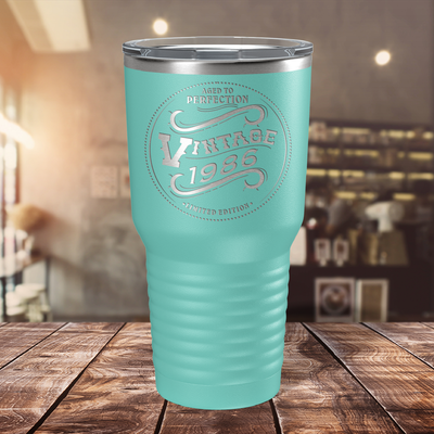 1986 Aged to Perfection Vintage 35th on Seafoam 30 oz Stainless Steel Ringneck Tumbler