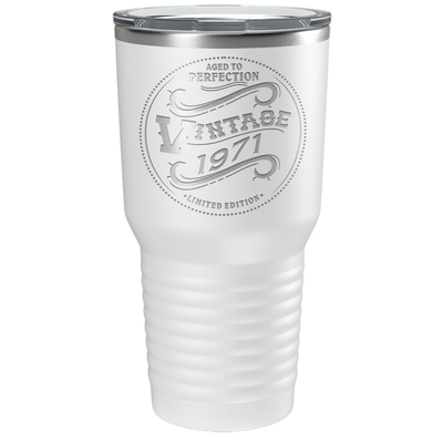 1971 Aged to Perfection Vintage 50th Birthday Laser Engraved 30 oz Vintage Tumbler