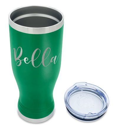 Cuptify Personalized Engraved 20 oz Pilsner - Green