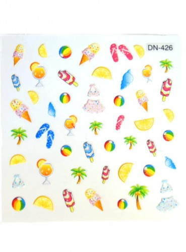 Nail Sticker - Fruit Punch Sticker No 1