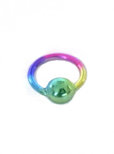 Fingernagel Piercing Ring - Stein Regenbogen