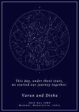 Load image into Gallery viewer, Gift a Personalized Star Map - Gift Night Sky