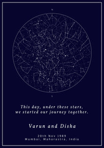 Gift a Personalized Star Map - Gift Night Sky