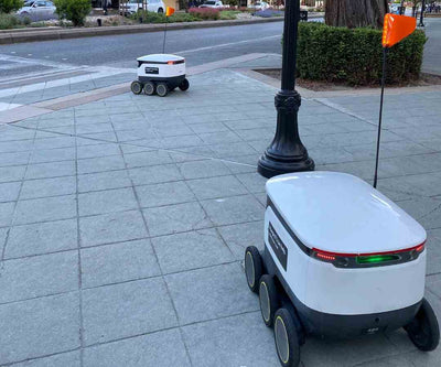 DAY 51, May 6 - Even delivery robots practice social distancing