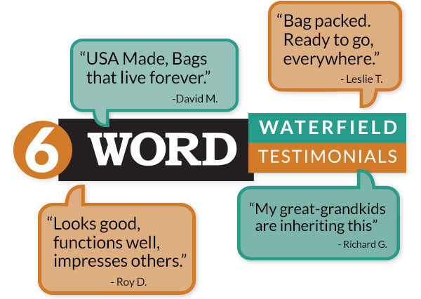 6 Word WaterField Testimonials