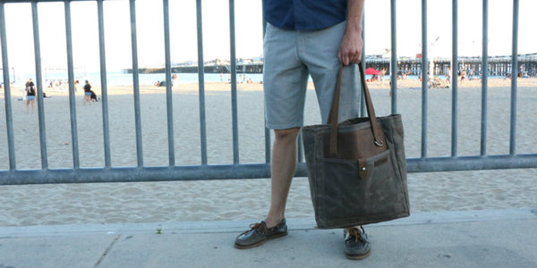Best Men's Field Tote in Canvas and Leather