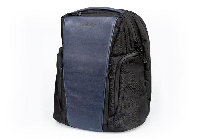 Pro Executive Backpack - Blue Leather