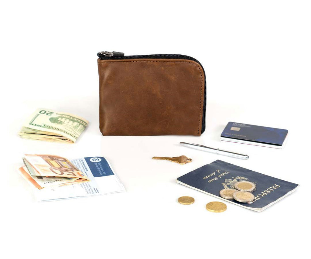 Passport and foreign currency (travel pen included)
