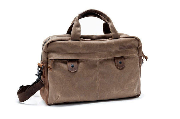 Bolt briefcase with matching removable strap and leather shoulder pad