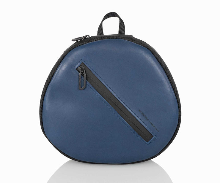 Blue Leather with Ballistic Nylon