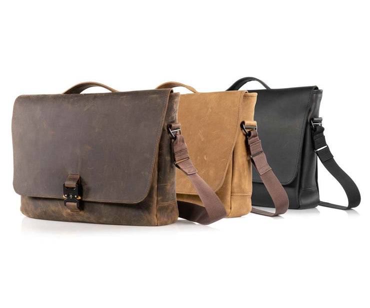 Available in three full-grain leather colors