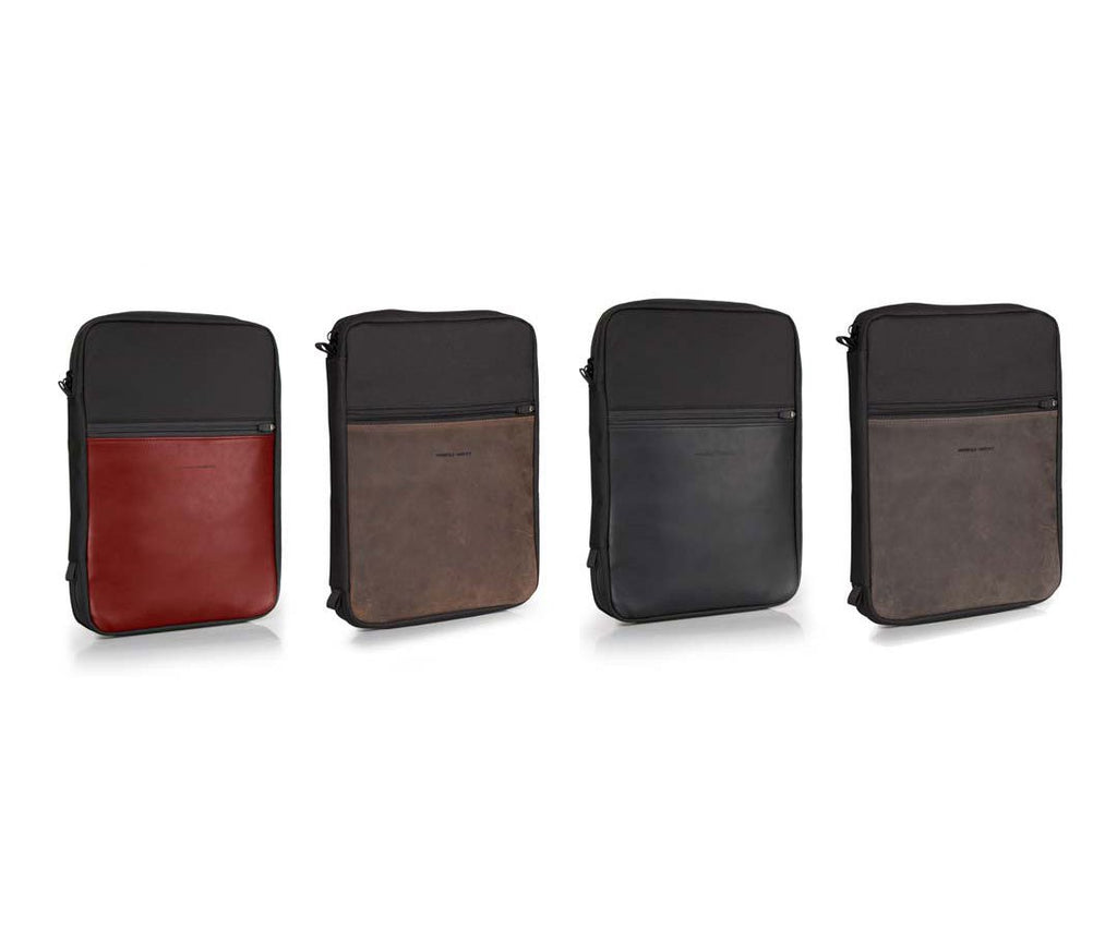 Available in leather accent colors that match the Pro Backpack