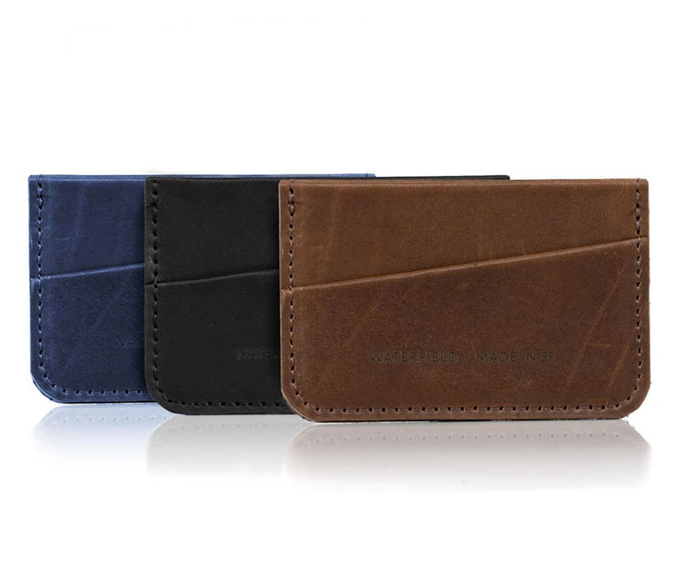 Available in full grain, oil-tanned leather