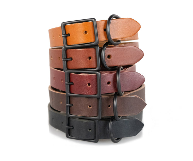 In five beautiful full-grain leather colors