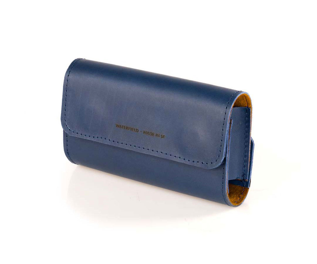 Blue Leather with Cumin Ultrasuede