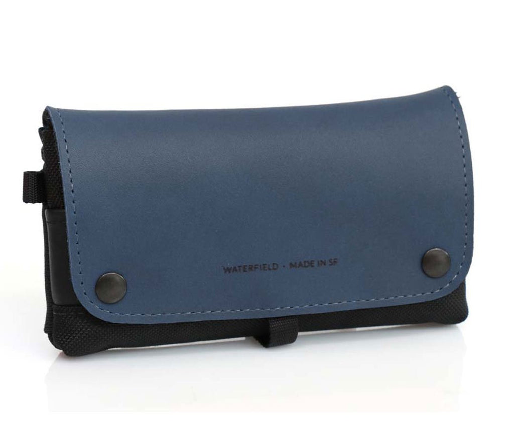 Blue Leather Flap