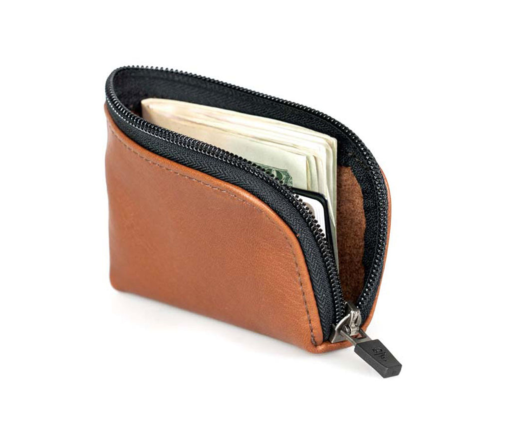 Comfortably stores a wad of bill and cards