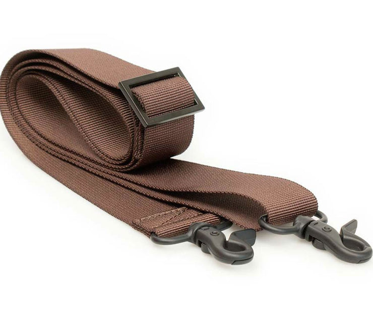 Brown Webbing with Black Hardware