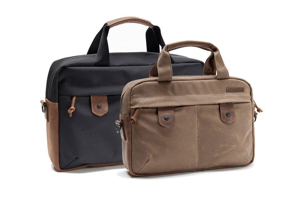 Bolt Briefcase canvas and black ballistic nylon