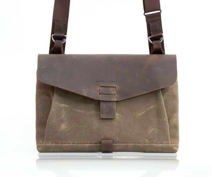 Full grain leather flap