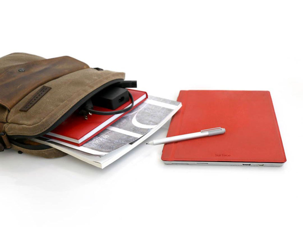 Medium Crossbody sided for the Surface Pro with accessories