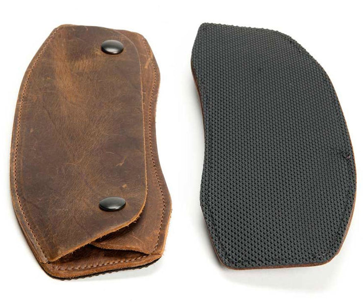 Full grain premium leather w/ grippy underside