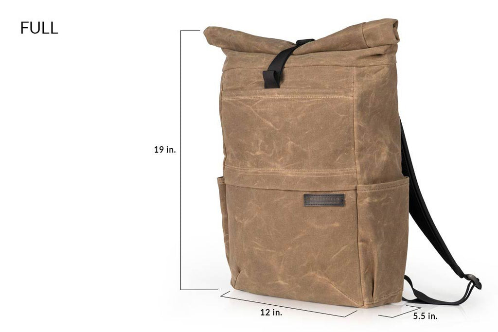 "FULL size fits 15"" laptop in external or internal pockets"