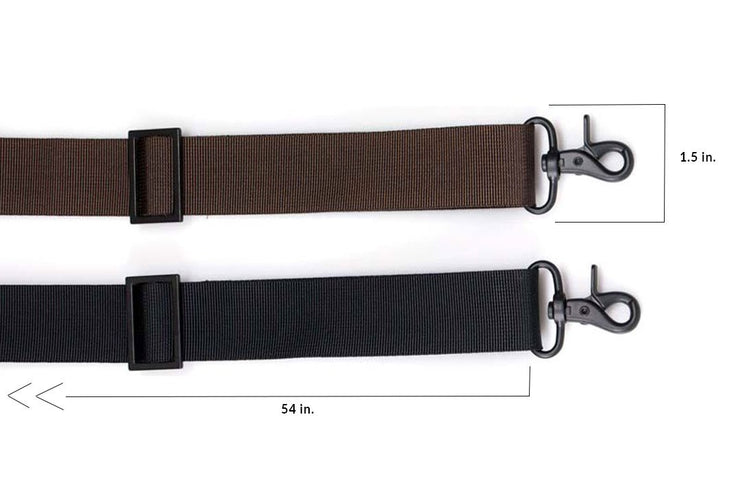 Available in Brown or Black 1.5-inch webbing