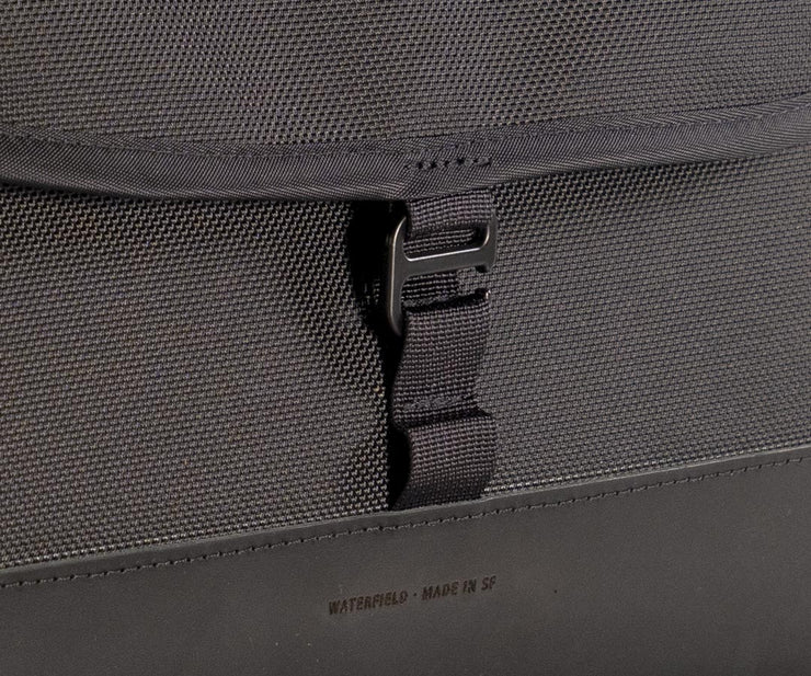 Adjustable flap lengths. Secures shut.