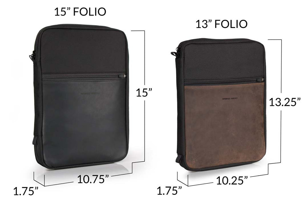 Vertical orientation to fit in backpacks