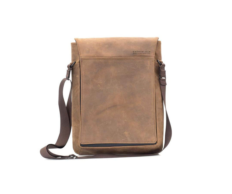 Vertical Leather Laptop Bag