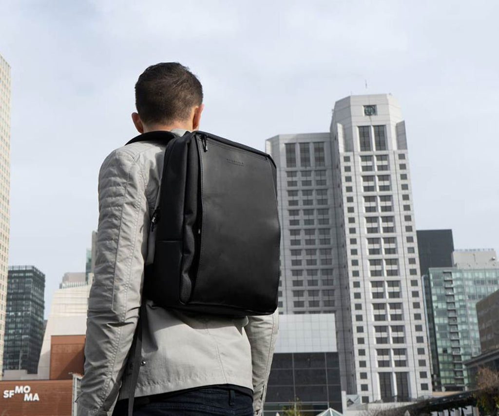 The Sutter Slim Laptop Backpack has a streamlined, modern fit