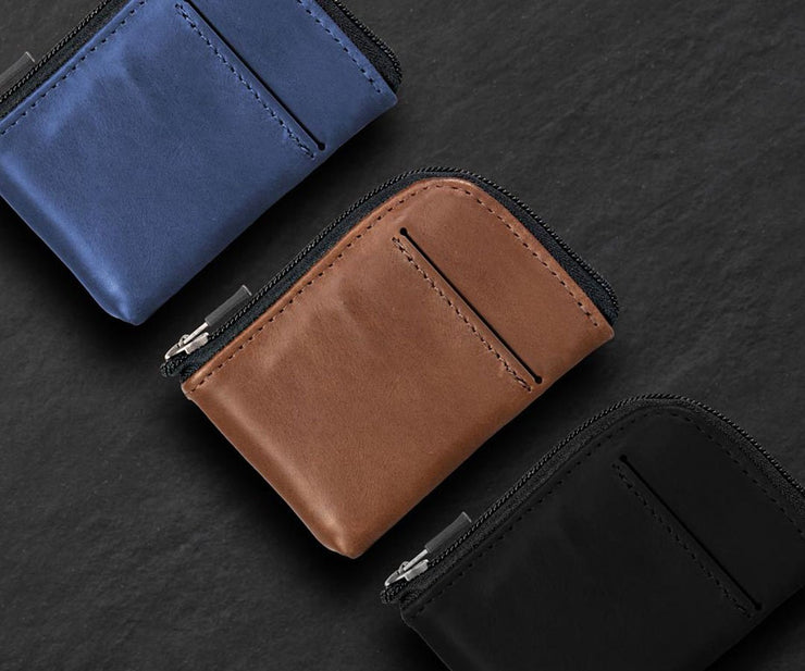 Leather tap and go wallet