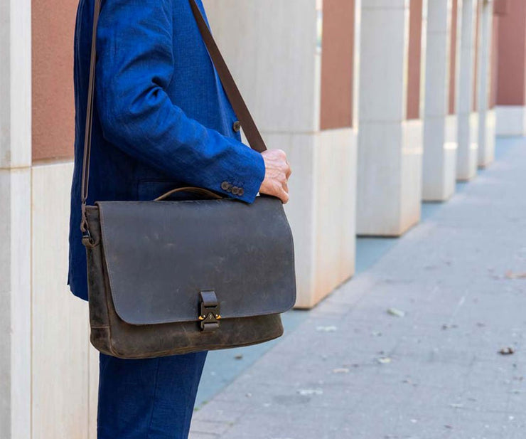 Executive Leather Messenger