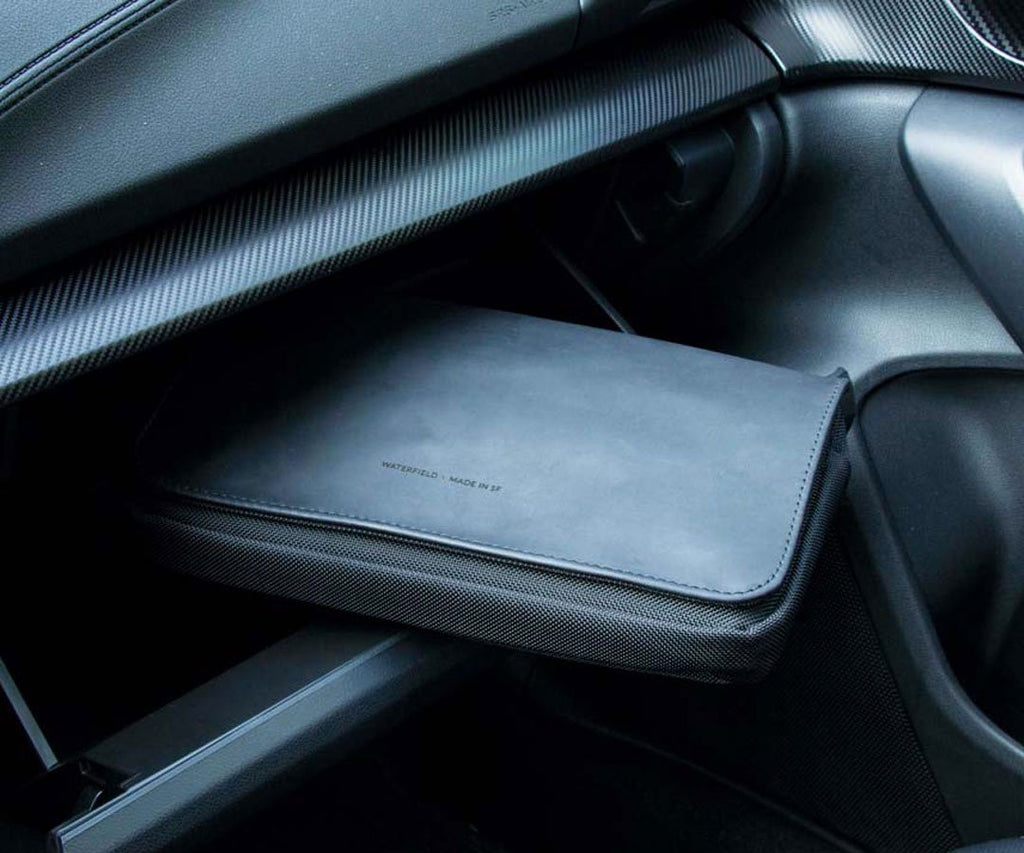 The Transit Travel Case keeps items in the glove compartment neat and orderly