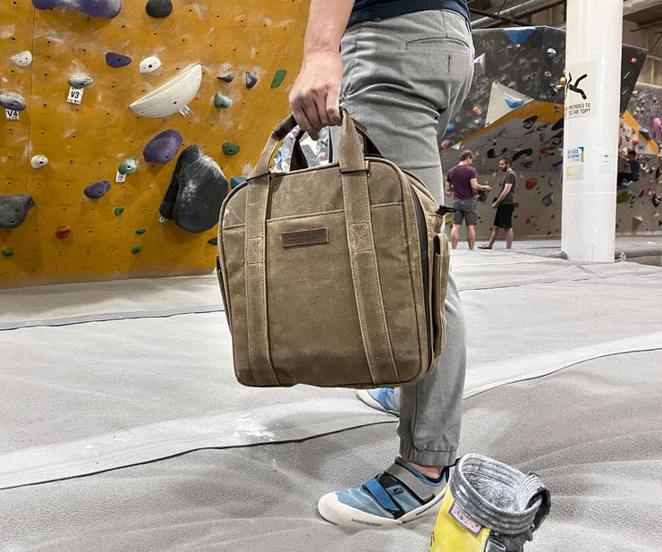 Perfect caddy for climbing gyms